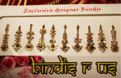 Gold Bindi Adornment for OFFICE Parties, Dinner & Special Events,