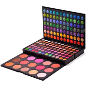 Healthcom Pro 183 Colours EyeShadow Palette with 15 Blusher Makeup Contouring Kit
