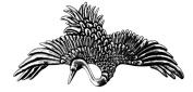 Hair Clip | Barrette | Crane | Handmade in the USA by Oberon Design