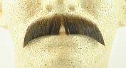 Rubies Basic Character Moustache MEDIUM BROWN - no. 2015 - REALISTIC! 100% Human Hair