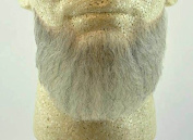 Rubies Full Chin Beard LIGHT GREY - no. 2023 - REALISTIC! 100% Human Hair