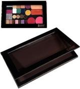 Z Palette De-Potting Makeup Kit with Large Black Palette, De-Potting Spatula and Square & Round Metal Pans