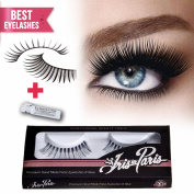 Professional False Eyelashes By Iris in Paris ★ Glamorous ★ Perfect for Beginners ★ Reusable ★ Great for Contact Lens Wearers ★ Kim Kardashian's Choice Glamorous Fake Eyelashes