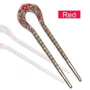 13cm Fashion Lady Alloy Hair Accessory Decorative Hair Pins Stick Fork Hairpin for Long Hair