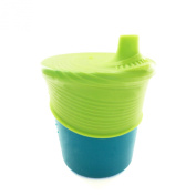 Silikids Siliskin Silicone Sippy Cup, Teal/Lime