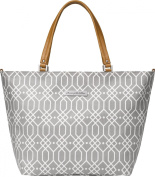 Petunia Pickle Bottom Altogether Tote in Quartz, Grey