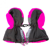 7AM Enfant Long Cuffed Mittens, Neon Pink, X Large