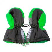7AM Enfant Long Cuffed Mittens, Neon Green, XX Large