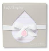 Baby Dumpling Jacquard Muslin Swaddle Blanket, Pink, 90cm x 90cm