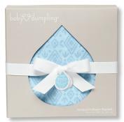 Baby Dumpling Jacquard Muslin Swaddle Blanket, Blue Diamonds, 90cm x 90cm