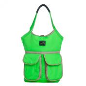 7AM Enfant Barcelona Nappy Bag, Neon Green