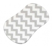 SheetWorld Fitted Bassinet Sheet (Fits Halo Bassinet Swivel Sleeper) - Grey Chevron Zigzag - Made In USA