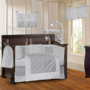 BabyFad Minky White 10 Piece Baby Crib Bedding Set