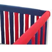 Go Mama Go Designs' Navy & Red 130cm x 15cm Reversible Teething Guard