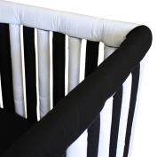 Go Mama Go Designs' Set of Black & White 80cm x 15cm Reversible Teething Guard