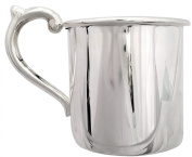 Cunill 100ml Plain Baby Cup, 5.4cm , Sterling Silver