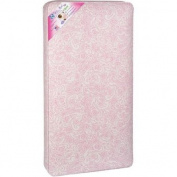 Sealy Ortho Rest 150-Coil Crib Mattress, Pink Paisley