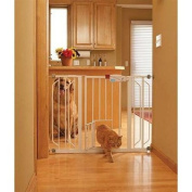 Extra-Wide Walk-Thru Gate with Pet Door 0930PW, White