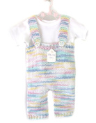 KSS Handmade Knitted Suspender Pants in Pastel Cotton with T-shirt