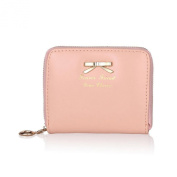 GBSELL Women Fashion Cute Bowknot Purse Clutch Wallet Short Small Bag PU Card Holder
