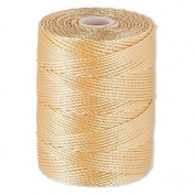 C-LON Bead Cord, Apricot - .5mm, 92 Yard Spool