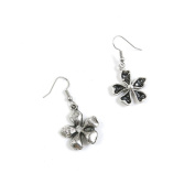 10 Pairs Jewellery Making Antique Silver Tone Earring Supplies Hooks Findings Charms E2AC6 Clover Leaf Leaves