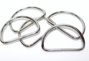 ljdeals Metal D Ring 3.8cm x 2.5cm Non Welded Nickel Plated Pack Of 25