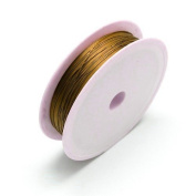 1 x Brown Iron Craft Wire 12 Metre x 0.4mm Spool - (HA16875) - Charming Beads