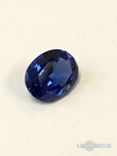 Sapphire Blue medium. Oval 10x8mm. 2.85 Ct. Created Gemstone Nanosital. US@GEMS