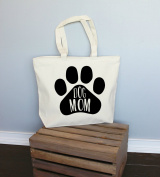 Dog Mom Xl Tote in Natural Colour