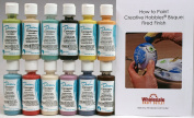 Duncan CNKIT-8 Concepts Sprinkles Underglaze Paint Set, 12 Best Selling Colours in 60ml Bottles with Free How To Paint Ceramics Book