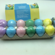 WM 12 Plastic Easter Decorating DIY Pastel Chalkboard Craft Eggs - No Cooking