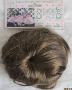 SYNDEE'S Craft DOLL HAIR WIG Fits Size LARGE Hair Colour BROWN Synthetic Hair