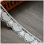 White 5 Yards Heart Cotton Ribbon Lace Trim Dress Lace Craft Lace Sewing Lace 3.4cm Wide