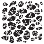 Crafter's Workshop Template 30cm x 30cm -Pebbles Tied