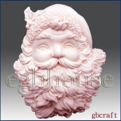 Santa Plaque- Soap/Candle/polymer/clay/cold porcelain 2D Silicone mould