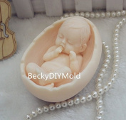 Creativemoldstore 1pcs Cradle with Baby (ZX99) Craft Art Silicone Soap Mould Craft Moulds DIY Handmade Soap Mould