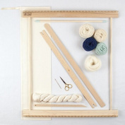 50cm FRAME LOOM WEAVING KIT /EVERYTHING YOU NEED TO MAKE YOUR OWN WOVEN WALL HANGING - MINT & NAVY