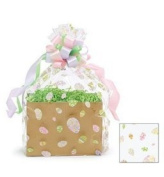 """BundleOfBeauty Item# GH3830A 5pack Easter Eggs Designed Cello/cellophane Bags Gift Basket Packaging Bags Flat- 50cm X """""""