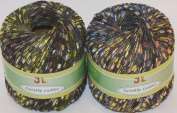 Clearance Pack of 2 Balls Twinkly Ladder Trail Trellis Yarn mix lot