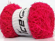 Lot of 4 x 100gr Skeins ICE YARNS Scrubber Twist Candy Pink