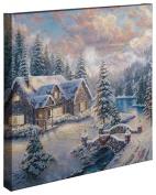 High Country Christmas - Thomas Kinkade 20 x 75.7lery Wrapped Canvas