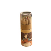 welcomeuni Girl Painting Stationary Supplies 12 Colours Drawing Writing Wooden Pencils