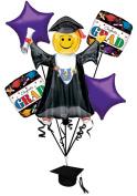 Veil Entertainment Congrats Grad 6pc Balloon Pack Purple
