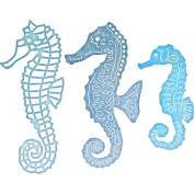 Cheery Lynn Designs B267 Seahorse Family Scrapbooking Die Cut