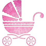 Cheery Lynn Designs B303 Baby Carriage Scrapbooking Die Cut