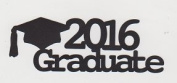 2016 Graduate Die Cut Title - Graduation