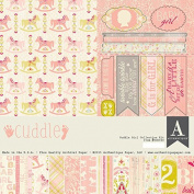 Authentique Cuddle Girl Baby Scrapbook Collection Kit