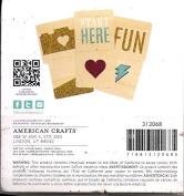 Heidi Swapp Project Life Glittered Wood Veneer Cards 312068 - 6 10cm x 10cm Cards