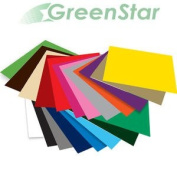 GreenStar 30cm x 30cm (20 PACK) Self Adhesive Craft Vinyl Matte Removable, Indoor Wall Decorations